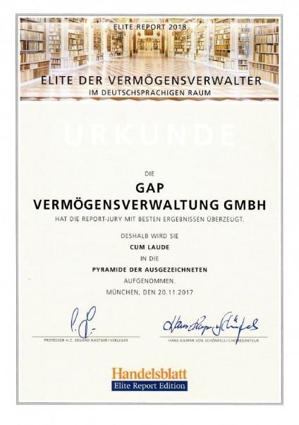 Elite der Vermögensverwalter im deutschprachigen Raum